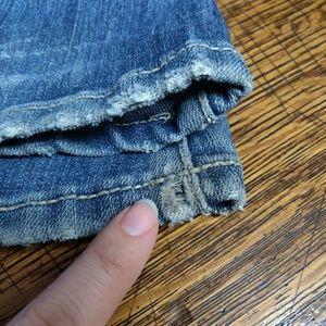Blue Asphalt Jeans - Blue Asphalt Distressed Super Flare Jeans Size 3